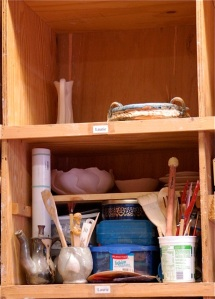 pottery shelving